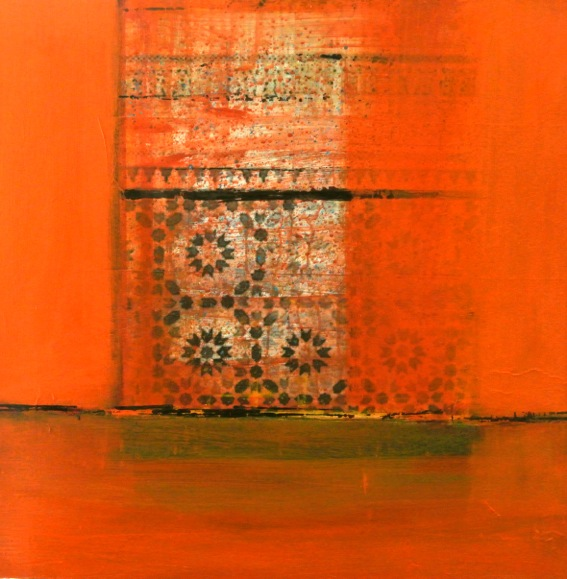 PassageMaroc 05 - mixedmedia on canvas - glossy varnish - 100x100cm - € 1.500,-