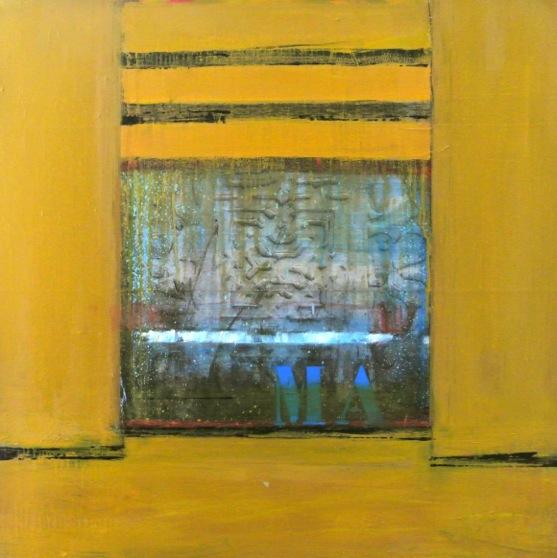 PassageMaroc 06 - mixedmedia on canvas - glossy varnish - 100x100cm - € 1.500,-