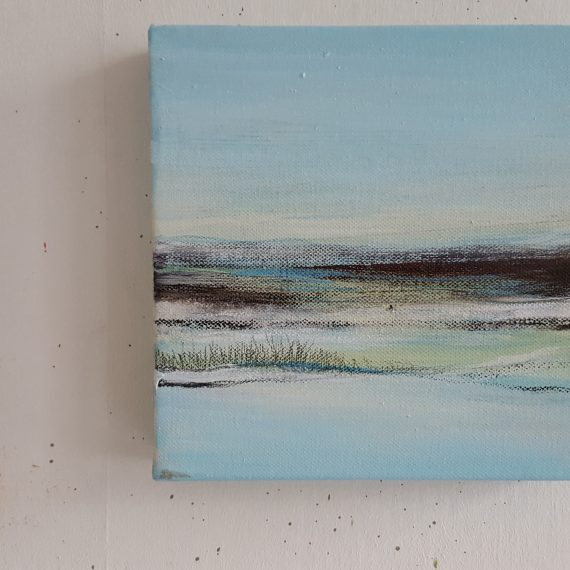 Vlakkeland Xlll - olieverf op canvas - 20 x 20 x 4 cm - nu voor € 110,-