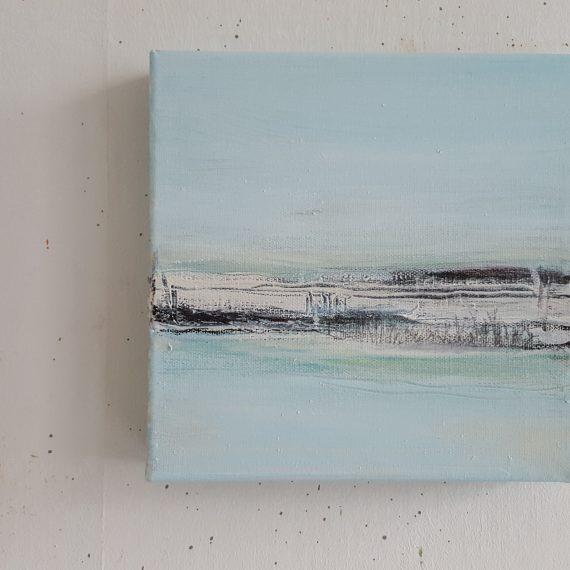 Vlakkeland Xll - olieverf op canvas - 20 x 20 x 4 cm - nu voor € 110,-