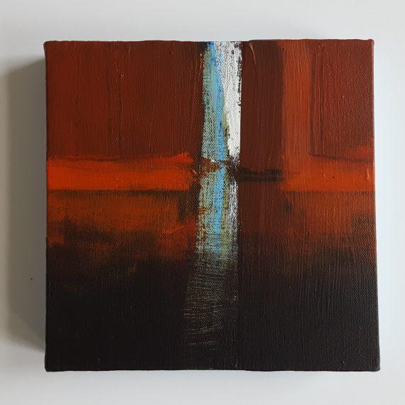 Passage l - 20 x 20 cm - acryl + graphics - canvas 4 cm profiel