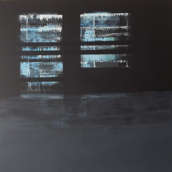 BlueRoom01 - acrylics&graphics on canvas - 100x100cm - € 1.500,-